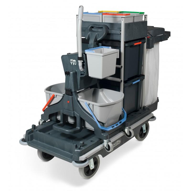 Numatic SCG1806MMT1616G Janitorial Trolley c/w Vertical Press
